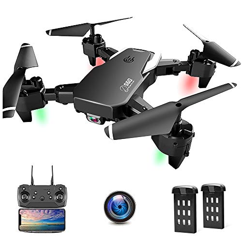 Drone with Camera, Foldable Drone for Beginners, 1080P HD Camera WiFi FPV, 30 Minutes Flight Time(2 Batteries), Altitude…