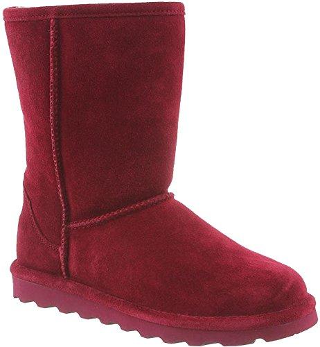 BearPaw Womens Elle Short Winter Boot Bordeaux Size 10 Red Shearling Boots