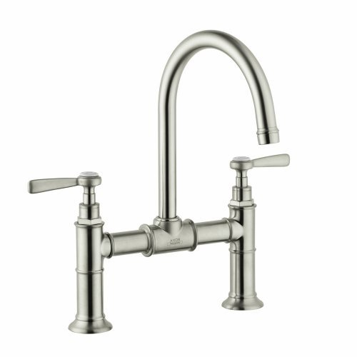Hansgrohe 16511821 Axor Montreux Widespread Faucet Model Bridge with Lever Handle, Brushed Nickel by AXOR