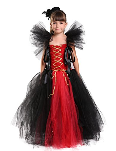 Cute Vampire Girl Costumes (Tutu Dreams Halloween Vampire Costume for Girls)