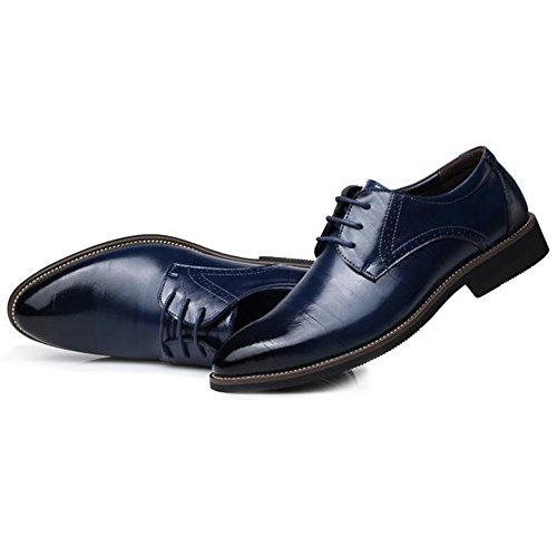Nozze Antiscivolo Blue da Classiche di Festa Stringate da Uomo Pelle Scarpe in Scarpe Antiscivolo UqS7z