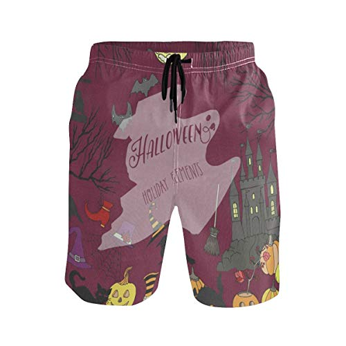 Mens Swim Trunks,Halloween Holiday Decorations Beach Board Shorts