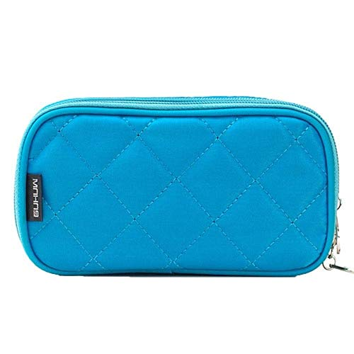 PomPomHome Cosmetic Bags Multi-Function Makeup Bag Portable Storage Travel Toiletry Bags Cosmetic Storage Casual Handbag (Blue)