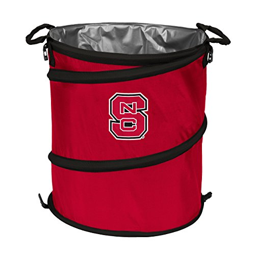 (Logo Brands NCAA North Carolina State Wolfpack Adult Collapsible 3-in-1 Trash Can, Red)