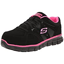 Skechers for Work Women's 76553 Synergy Sandlot Steel Toe Lace-Up Work Shoe