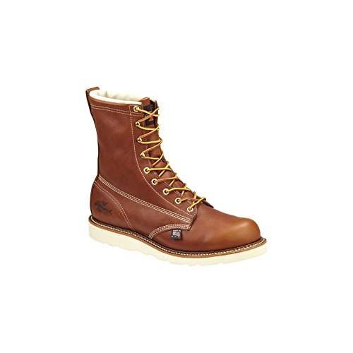 """UPC 014799774202, Men's Thorogood Waterproof 8"""" Insulated Wedge Boots, Tobacco, 8.5D"""