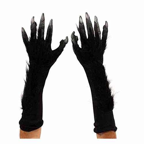 Black Monster Werewolf Killer Ape Hands Adult -