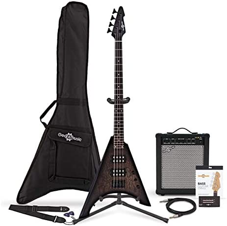 Harlem V Bass Guitar + 35W Amp Pack Trans Black: Amazon.es: Instrumentos musicales
