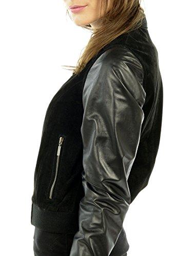 Cuir 36 Arturo Femme Taille Couleur Noir Blouson CFFR5B