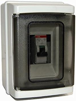 Caja de derivación estanca para exterior con interruptor magnetotermico interior: Amazon.es: Bricolaje y herramientas
