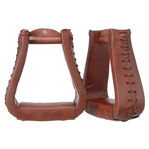 Tough-1 Stirrups Royal King Oversized Western Leather Tread Lt 57-5995