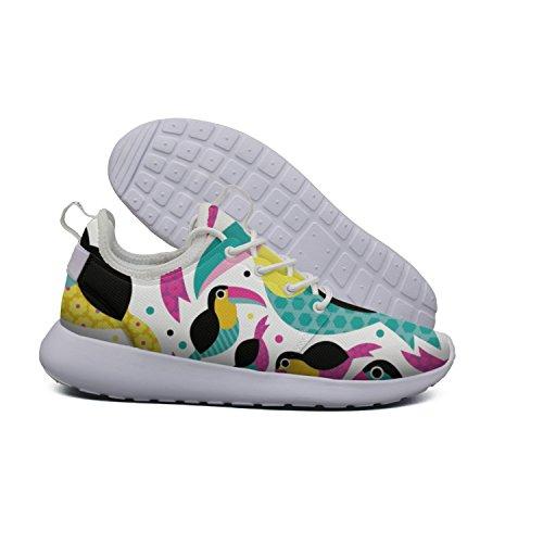 2 pattern Stripes Tucan Flex beach Roshe Hoohle Lightweight Stylish Womens Bird Road Surf Shoes Mesh Running Sports Bright Board w0B0YSqv