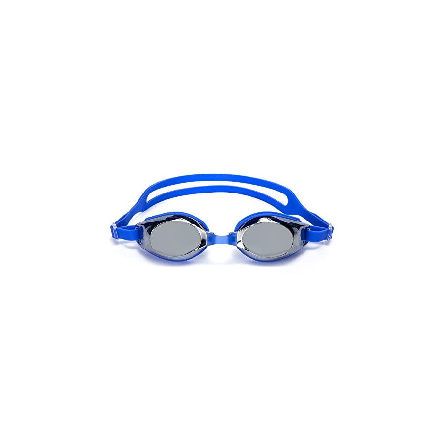 Swimming Goggles,ANGOGO Swim Goggles with Mirror/Smoke Lens Anti fog UV Protection Watertight Adjustable Strap Comfort fit for Unisex Adult Men and Women, Teenagers kids.
