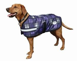 Weatherbeeta Parka 1200D Medium Dog Coat - 24 - Purple Plaid