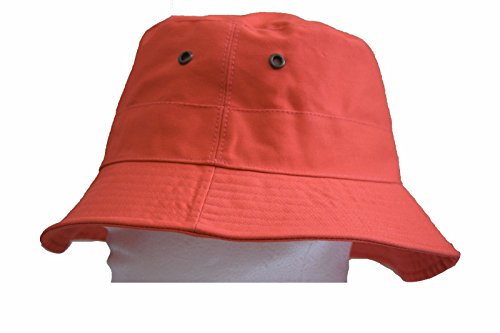 Orange Bucket Hat Cap Boonie Cotton Fishing Hunting Safari Sun Men Women  Brim a8f11edece95