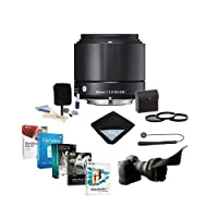 Sigma 60mm f/2.8 DN ART Lens for Sony E-mount Nex Series Cameras, Black - Bundle with 46mm Filter Kit (UV/CPL/ND2), Flex Lens Shade, Lens Cap Leash, Cleaning Kit, Lens Wrap, Pro Software Package