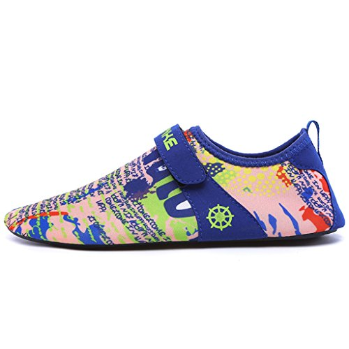 Ivao Vrouwen Mannen Aqua Sokken Sneldrogend Unisex Barefoot Water Schoenen Voor Strandzwemmen Surfen Yoga Graffiti