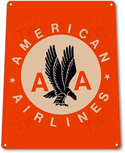 SRongmao American Airlines Retro Logo Jet Avión Vintage Look Wall ...