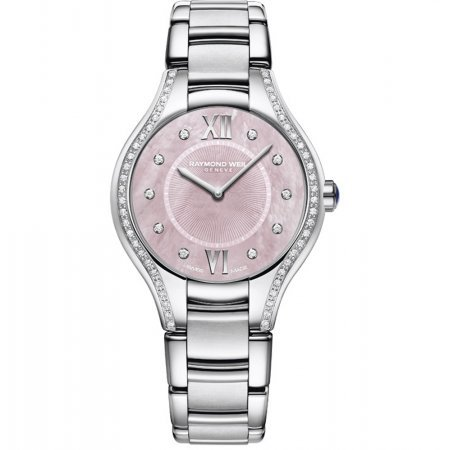 Raymond Weil ' Noemia' Quartz Stainless Steel Casual Watch, Color:Silver-Toned (Model: 5132-STS-00986)