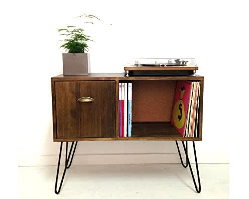 storage console cabinet vinyl record storage console table record 26867