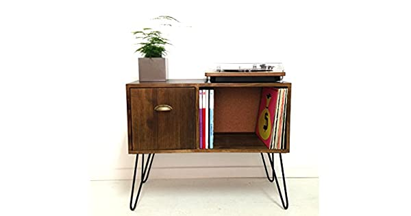 Amazon.com: Vinyl Record Storage, Console Table, Record ...