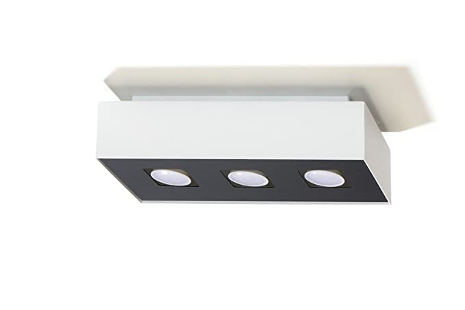 Bauhaus - Lámpara de techo (b14 cm, l34 cm, 3 de flmg ...