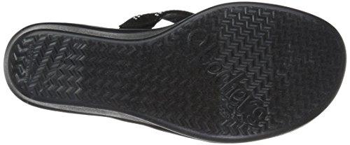 Skechers Women's Rumblers-Cali Spell-Studded Multi Strap Slide With Memory Foam Wedge Sandal Black nzL2K2TLQ