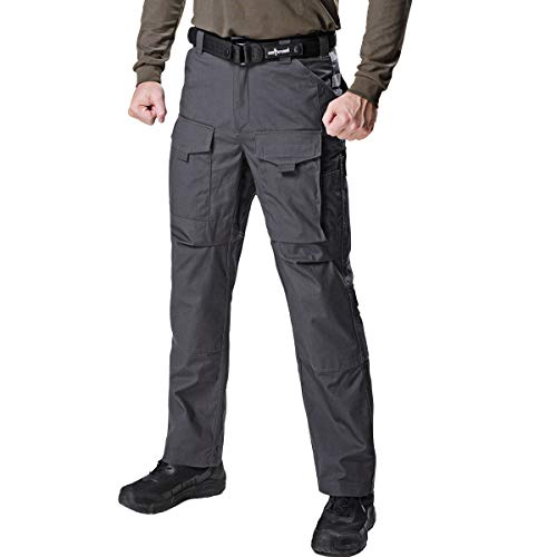 FREE SOLDIER Outdoor Men Teflon Scratch-Resistant Pants Four Seasons Hiking Climbing Tactical Trousers(Gray ()