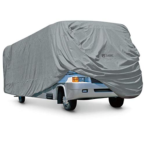Classic Accessories OverDrive PolyPRO 1 Class A RV Cover, Fits 33' - 37' RVs - Breathable and Water Repellant RV Cover (80-164-191001-00) -