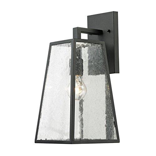Elk Lighting 45091/1 Meditterano Collection 1 Light Outdoor Sconce, Textured Matte Black from ELK Lighting
