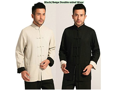 Cotton-flax Tang Suits Double-sided Wear Retro Jackets mens shirts Business Jackets Full Dress by Double-sided Wear Tang Suit (Image #9)