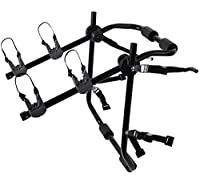 OxGord Bike Rack Trunk Mount - Cycling Hitch Carrier for Most Sedan Cars- Holds Two Bicycles
