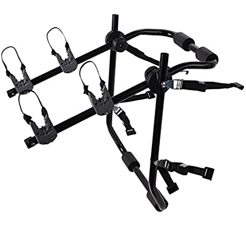 2-Bike Rack Trunk Mount - Deluxe Bicycle Carrier for most Sedans / Hatchbacks / Minivans and SUVs - Holds Two (Rack For 2 Bikes)