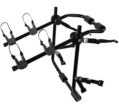 2-Bike Rack Trunk Mount - Deluxe Bicycle Carrier for most Sedans / Hatchbacks / Minivans and SUVs - Holds Two Cycles