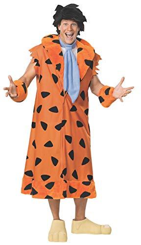 Funny Cartoon Characters For Halloween (The Flintstones Fred Costume, Orange/Black, Standard,)