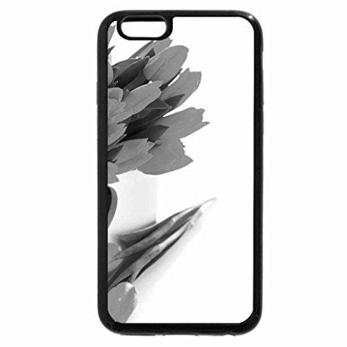 iPhone 6S Plus Case, iPhone 6 Plus Case (Black & White) - Tulips
