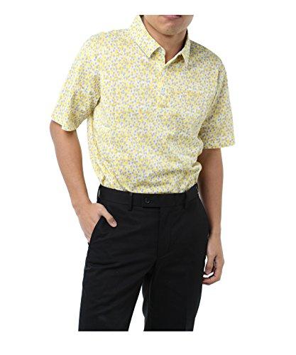 不道徳シソーラス管理者ツアーディビジョン メンズ ゴルフウェア ポロシャツ 半袖 小花プリント半袖Tシャツ TD220101H05 YE L