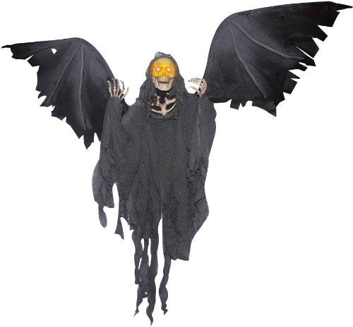 [Winged Reaper Animated Prop] (Halloween Decor World Market)