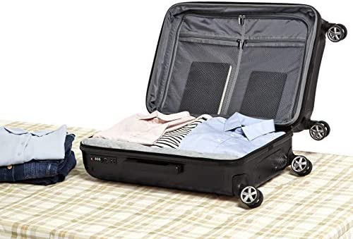 Amazon Basics Oxford Expandable Spinner Luggage Suitcase with TSA Lock - 26.8 Inch, Black