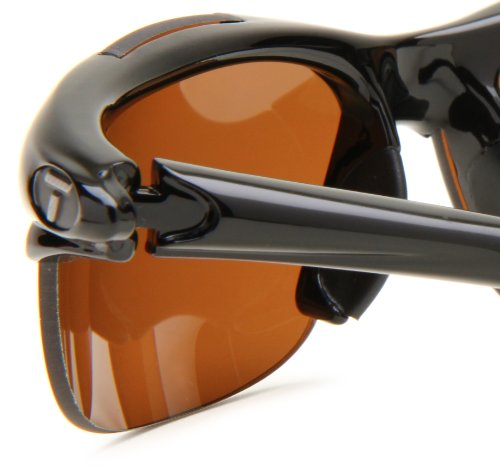 Tifosi Wisp 0040500250 Sunglasses Gloss Black Frame With Brown Polarized Lens 1060F