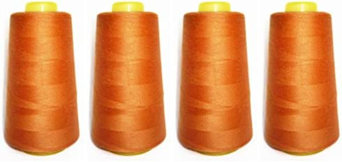 1 SPOOL MEDIUM ORANGE 100/% SPUN POLYESTER SERGER QUILTING THREAD T27 6000 YARDS