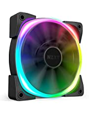 NZXT AER RGB 2-140mm - Advanced Lighting Customizations - Winglet Tips - Fluid Dynamic Bearing - LED RGB PWM Fan for Hue 2 - Single (HUE2 Lighting Controller Not Included)