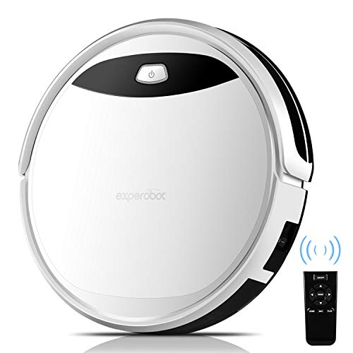 Robot Vacuum Cleaner Strong Suction for Carpets & Hard Floors, Self Charging Robotic Vacuum cleaner with Smart Anti Drop/Collision Sensors, Low Noise and HEPA Filter for Pet Owner and Allergy Sufferer