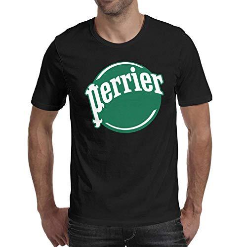 (AINIJIAJ Men's Print Solid Perrier-Water-Logo-Funny Shirt)