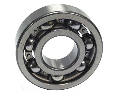 Ball Bearings Open - Shuster 6305 JEM Deep Groove Ball Bearing, Single Row, Open, Electric Motor Quality, C3 Clearance, 62 mm Height, 17.0 mm Width, 62 mm Length, 25.0 mm ID, 62 mm OD, High Carbon Chrome Bearing Steel