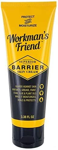 Workman's Friend Barrier Working Hand Cream | Moisturizes & Provides Superior Hands Skin Barrier Protection From Grease, Glue, Dirt, Paint and Oils - 3.38 ounces