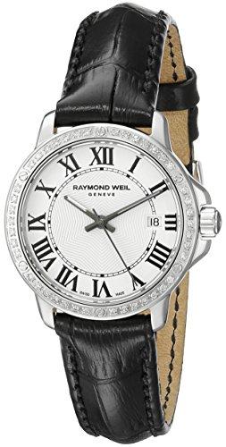 Raymond Weil Women's 5391-LS1-00300 Tango Analog Display Swiss Quartz Black Watch