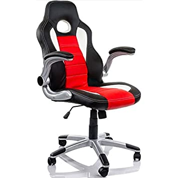 Oem systems company - Silla Racing Sports Negra/roja: Amazon.es: Informática