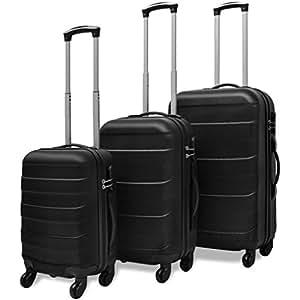 3 PC Luggage Set Light Suitcase ABS Trolley Hardside Case Travel Trip Lock Black