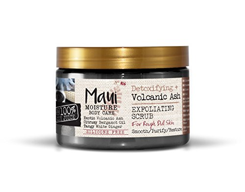 (Maui Moisture Volcanic Scrub Jar 12 Ounce Moisturizing Exfoliating Body Scrub Formulated for Dry Skin Normal Skin Combination Skin, with Aloe Vera Juice and Coconut Water, Silicone Free)